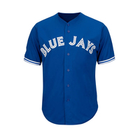 Cheap Wholesale Blank Navy Blue Toronto Baseball Jersey Sublimated Baseball Jersey