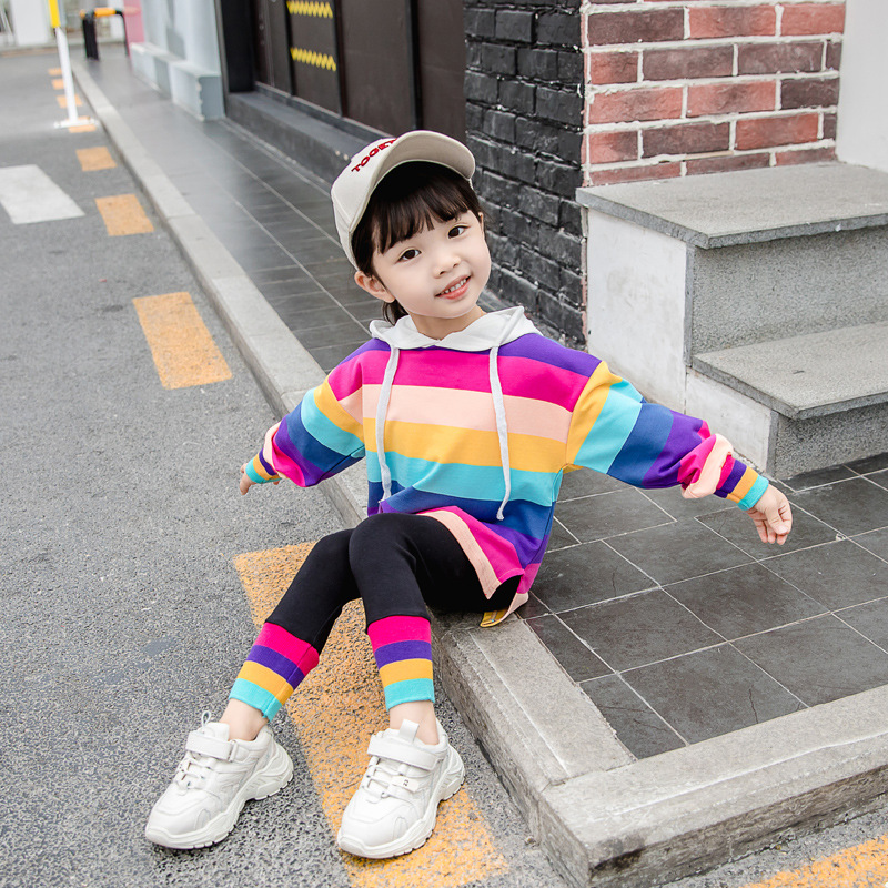 2020 new long-sleeved girls hoodie fashion baby girl sweater with purse