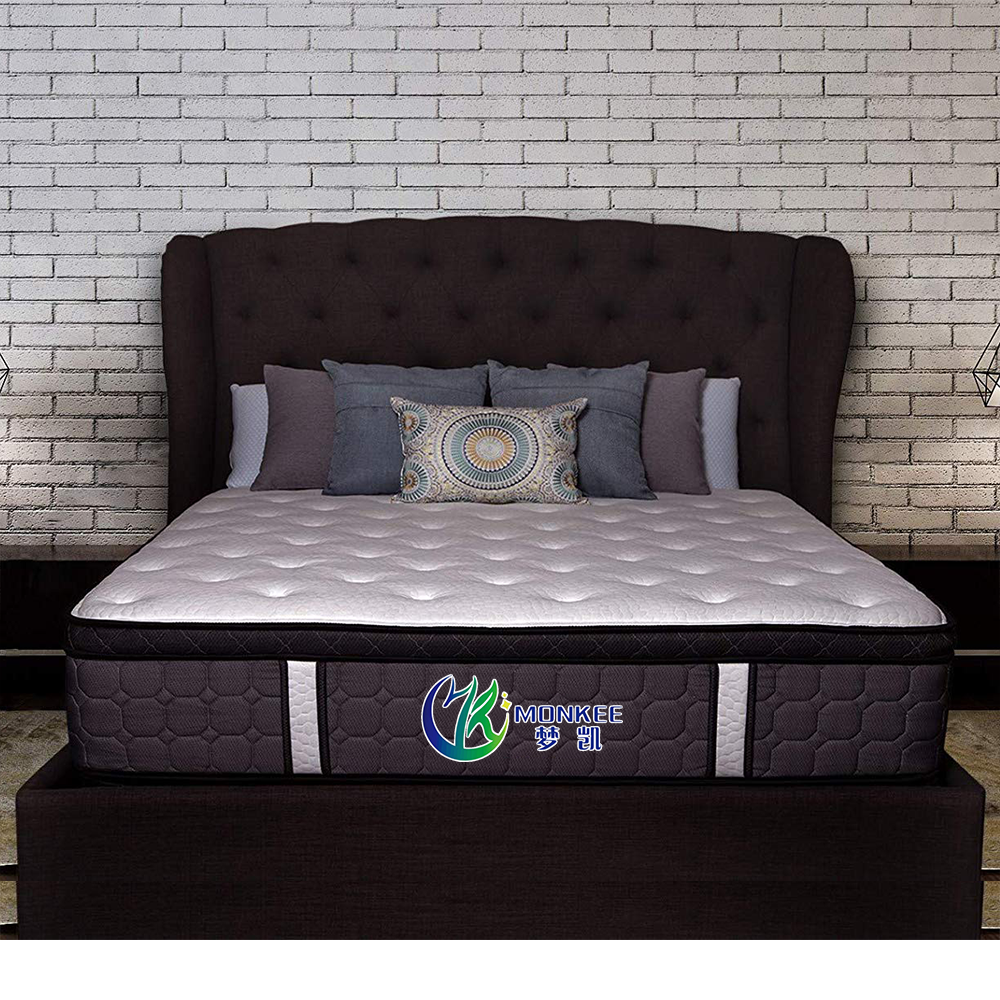 Luxury Hotel Mattress with Euro Pillow Top King Hybrid Pocket Coil Foam Mattress, 13 Inch - Jozy Mattress | Jozy.net