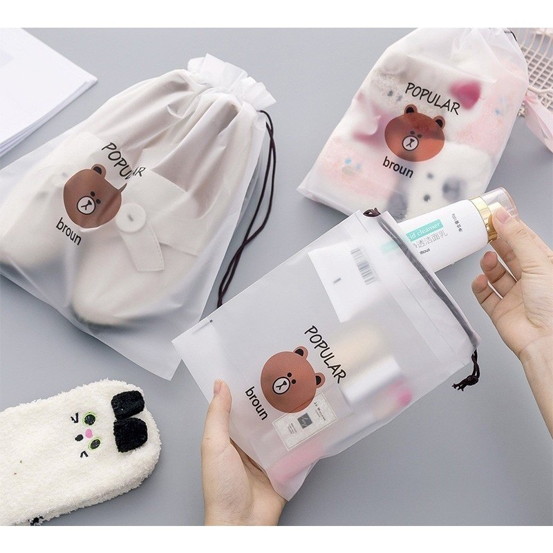 2020 Cartoon Transparent Cosmetic Bag Travel Makeup Case Women Make Up Bath Organizer Storage Pouch Toiletry Wash Beaut Kit <strong>H107</strong>