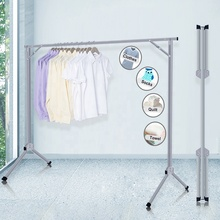 Free Installed Folding Drying Rack Clothes Rack Metal <strong>Pvc</strong> -Coated Hanger