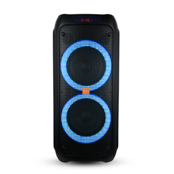 "Feiyang high power dual 8"" portable bluetooth TWS party speaker system rechargeable dj powered speakers with wireless mic"