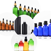 Frosted Matte black 30ml 1oz tincture bottles glass dropper serum bottle with measurement scale dropper pipette
