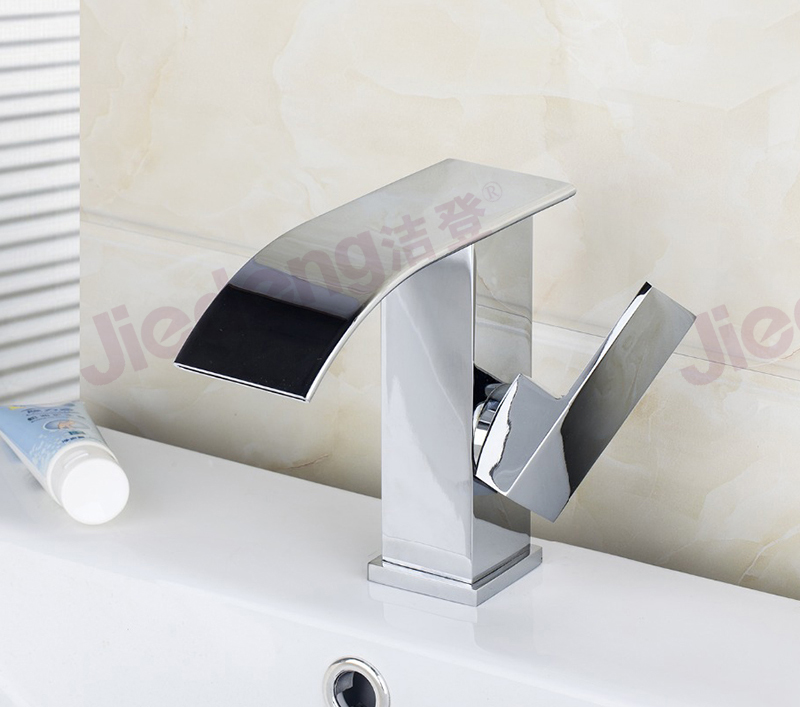 factory quality faucet bathroom washbasin waterfall tap (C58)
