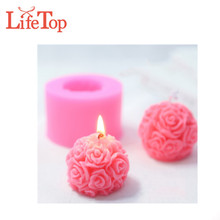 Ball Rose Candle Silicone Mold Home Decoration Flower Candle Mold