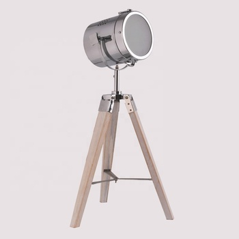 Wholesale home decorative e27 3 legs tripod natural wood carving bedroom bedside desk table lamp