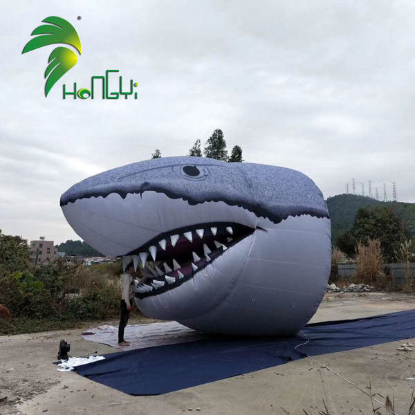 Giant Advertising Lifelike Inflatable Animal Shark Heads