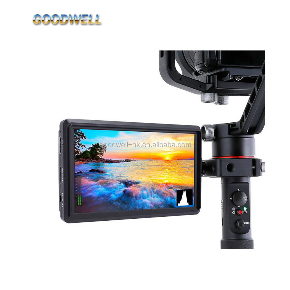 Professional 4K 5.5 Inch DSLR Camera Field Monitor IPS Full HD 1920x1080 <strong>1000</strong>:1 Support HDMI Input Output Tilt Arm