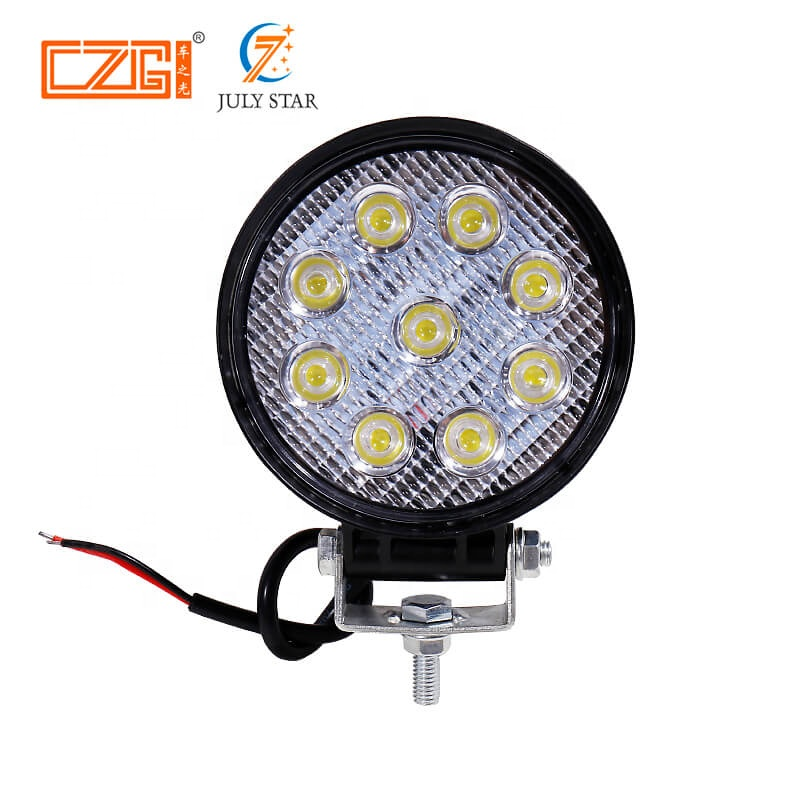 car accessories car work <strong>led</strong> light waterproof flood or spot beam <strong>led</strong> work light 27w 4.5 inch <strong>led</strong> work light