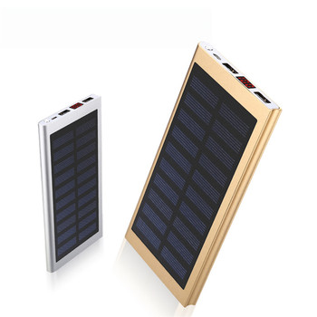8000mah Mobile Power Waterproof 2 Ports Usb Solar Power Bank