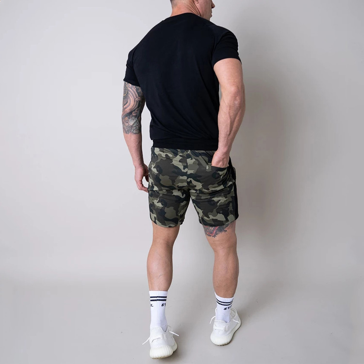 High Quality Men Activewear Camo Sweat Shorts Mens Cotton Shorts