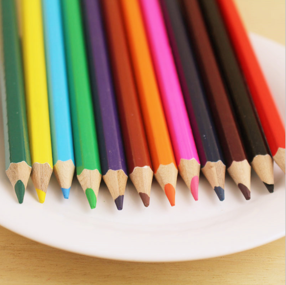 China supplier best quality eco-friendly stationery products color pencils set