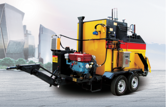 Asphalt road potholes maintenance vehicle
