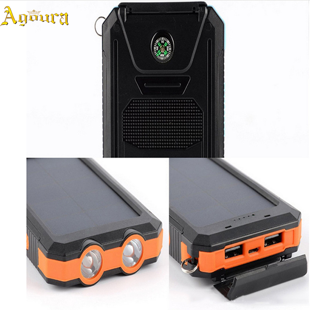 60000 mah High Capacity Mobile Power Supply Waterproof Solar Power Bank