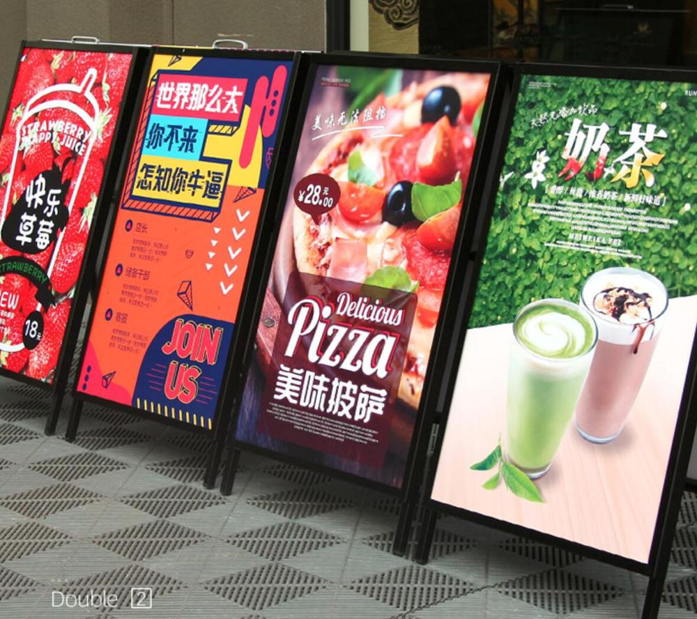 Durable Logo Changeable Recycle double sides <strong>poster</strong> A board plastic pavement signs display <strong>stand</strong>