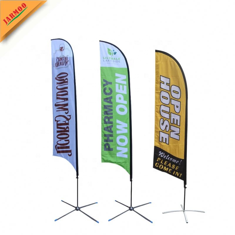 Welcome Double-Sided, Poles and Spike Base Included - Style 2 10ft Feather Banner