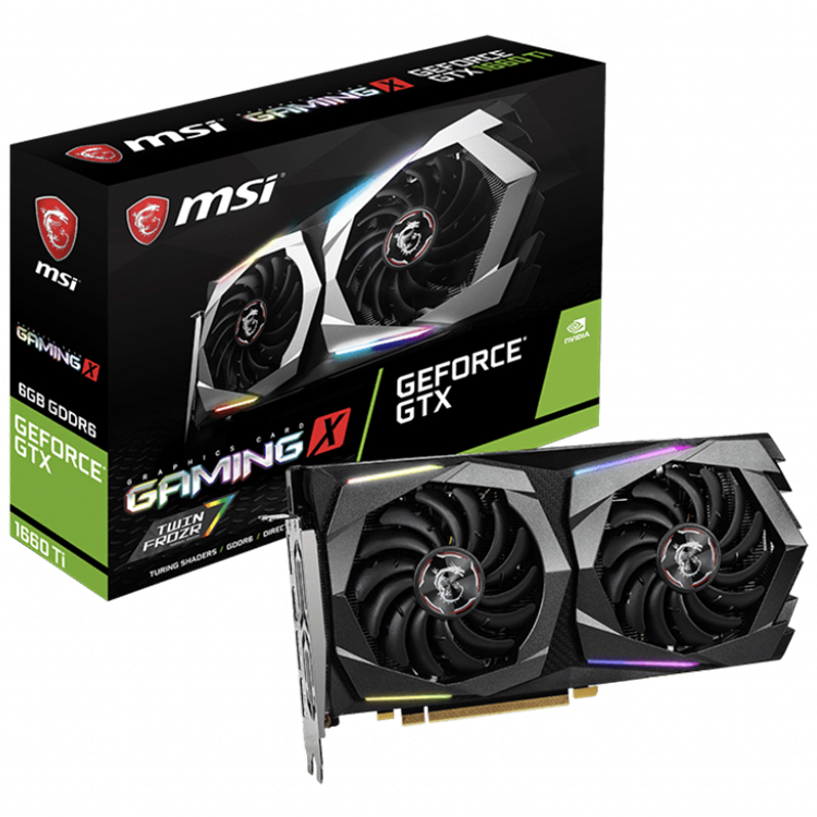 MSI NVIDIA GeForce GTX 1660 Ti GAMING <strong>X</strong> 6G Gaming Desktop Graphics Cards 6GB GDDR6 with 192-bit <strong>12</strong> Gbps For Memory Speed