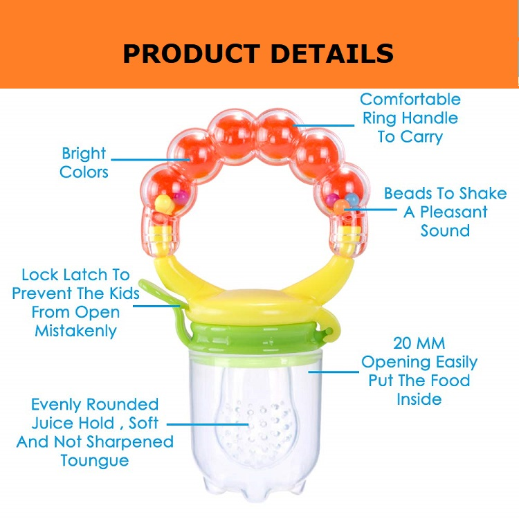 Handgrip Reusable Nipple Gum-Massaging Teething Toy Baby Fruit Pacifier for Newborn Toddlers