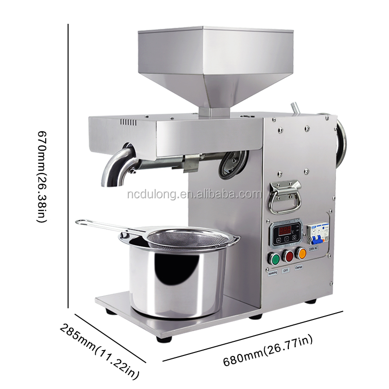 Small Commercial Cheap 304 Stainless Steel Cold Press Groundnut Extraction Oil Pressers