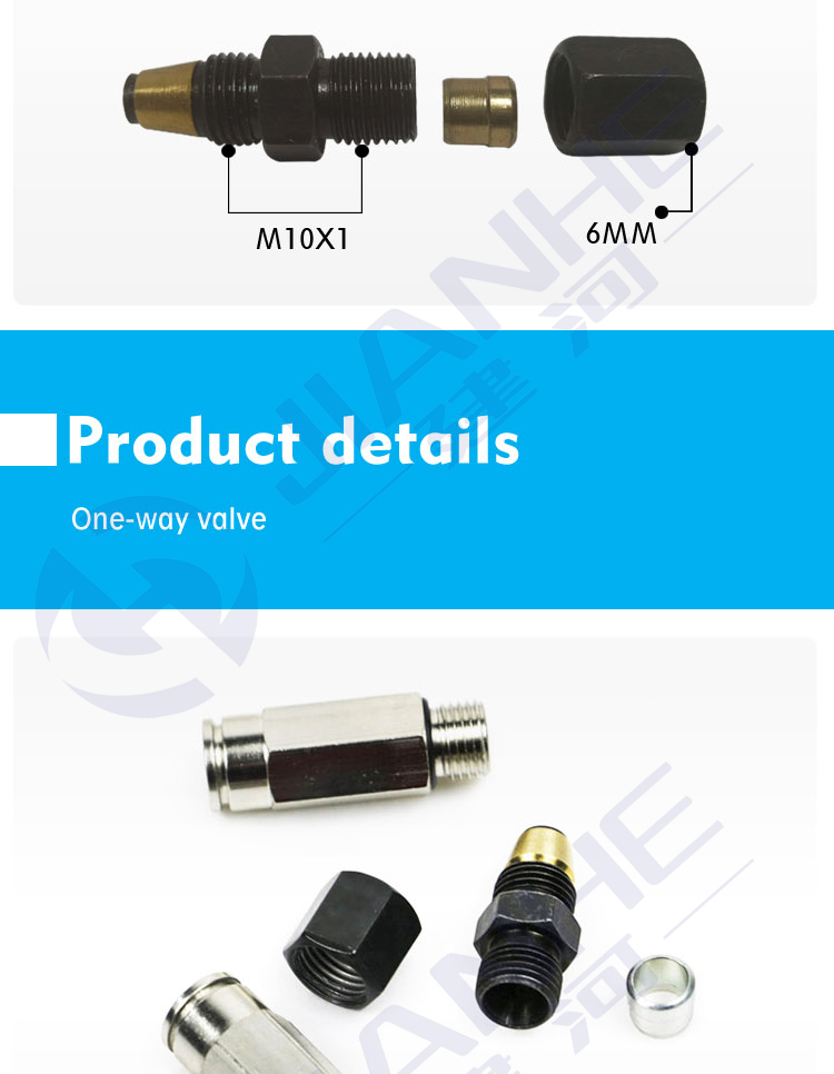 HDF M10x1 Threaded Fittings One way valve For 6mm Tube SSV And MVB Accessories Swing Check Valve