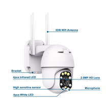 1080P Wifi Outdoor Dome Wireless Wifi CCTV Security <strong>Camera</strong> 4X <strong>Digital</strong> Zoom PTZ IP <strong>Camera</strong>