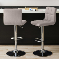 New Design Office Furniture Swivel Backrest Bar Stools With Footrest