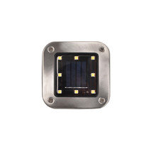 Outdoor Garden 10 <strong>x10</strong> Solar LED Post Deck Square Carden Light Landscape Lamp