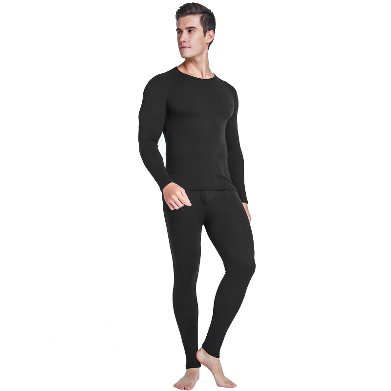 <strong>A001</strong> lightweight winter wear thermal suit Thermal Underwear for Men Fleece Lined Thermals Men's Base Layer Long John Set