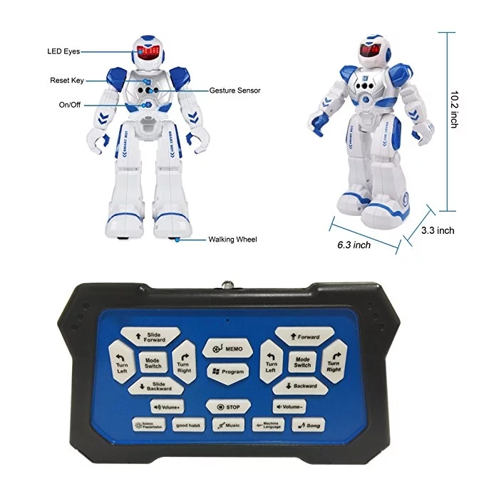 Professional factory supply electronic gesture control walking dance intelligent robot SKY-822