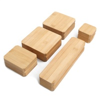 New solid wood custom wholesale bamboo wooden jewelry box ring beads bracelets necklace jewellery packaging boxes