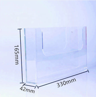 transparent wall hanging acrylic wall mount brochure holder