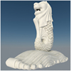 China Factory Custom Merlion Carving Stone Sculpture Marble Singapore Merlion Statue For Sale