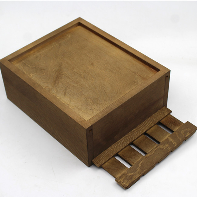 Factory Supply Wooden Crate Lid  Wood Packaging Craft Box