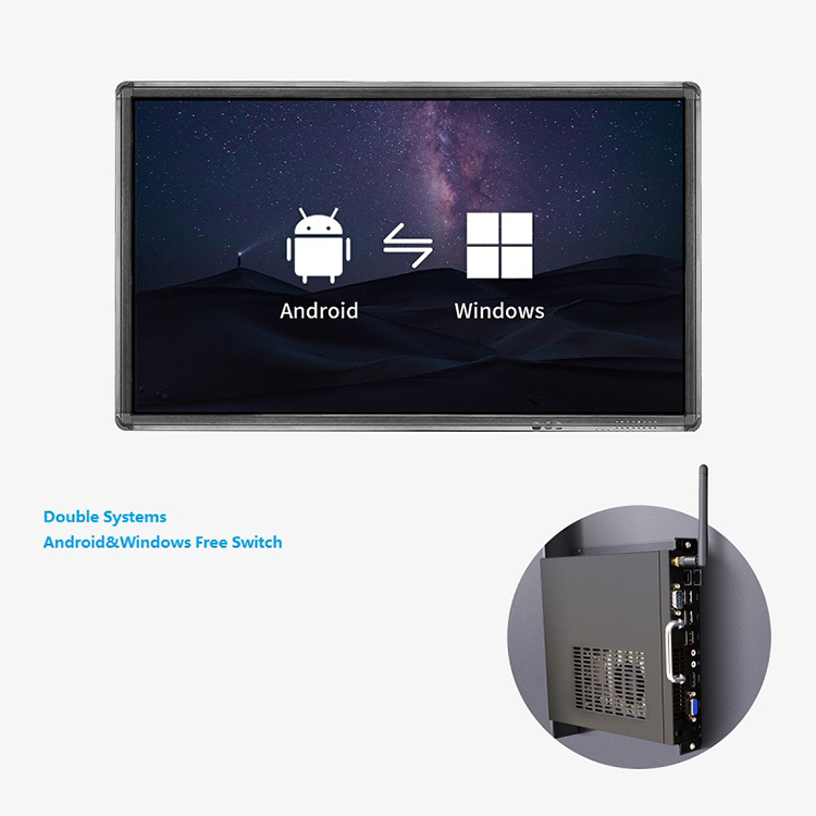 75 Inch Cheap Multiple Interfaces Panel Interactive Flat touch screen monitors