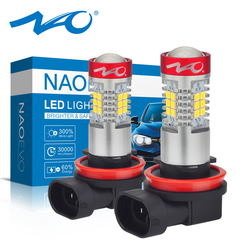 NAO H11 <strong>LED</strong> HB4 9006 HB3 9005 Car <strong>LED</strong> <strong>H10</strong> H8 H16 5202 <strong>fog</strong> Light Bulb H9 2835SMD 1300LM 12V <strong>Auto</strong> Driving Running Lamp White 6000K