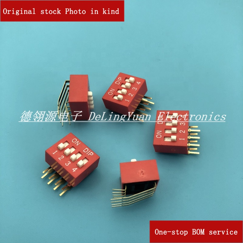 Dial switch Dip Switch SPST Through <strong>Hole</strong>, Right Angle Slide DA-2P/3P/4P/5P/8P/12P.