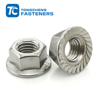 serrated DIN6923 carbon steel zinc plated hex flange nut