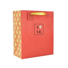 Wholesale Red Heart Attachment Paper Shopping <strong>Bag</strong>, Luxury Custom Printing Paper Gift <strong>Bag</strong> with Handle