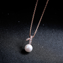 mx009 Pearl Necklace for Women Real Natural Freshwater Pearl Pendant Necklace Fashion Statement Necklace
