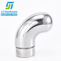 Factory direct sale stainless steel 304 316 2205 radius elbow 90 degree angle end for modular railings