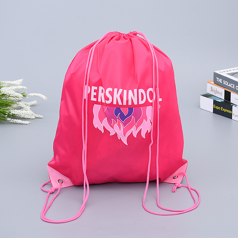 custom logo printed Promotional string drawstring bag