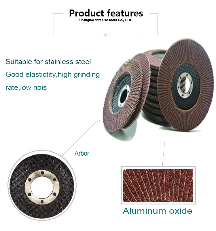 SATC 4.5''x7/8'' Premium High Density Calcined Aluminum Oxide Flap Disc 120 Grit Type 29