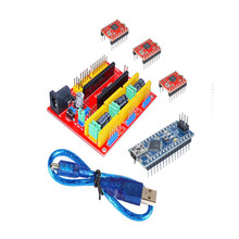 CNC Shield <strong>V2</strong> +3PCS A4988 + UNO R3(red) &amp; USB Cable 3D printer for arduino