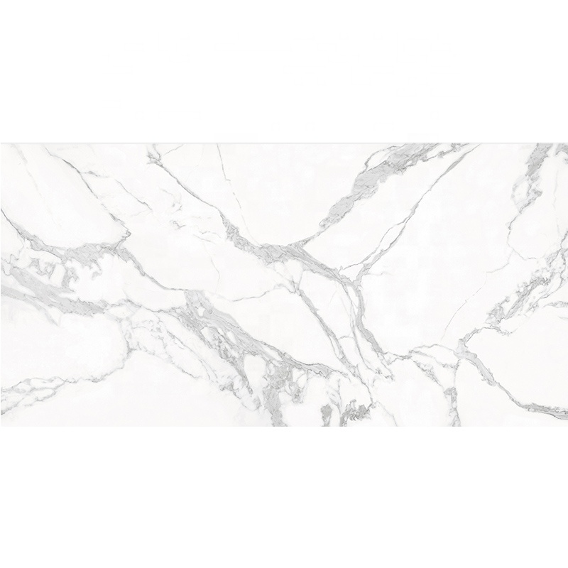 1200*2400mm Thin Large Size Big slab Glossy White Porcelain Slab Calacatta Floor <strong>Tile</strong>