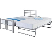Home Furniture Space Saving Folding Metal Bed Frame Single Trundle Frame Bed