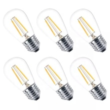 Tonghua Vintage Clear Glass LED 2W Dimmable Edison <strong>Bulb</strong> S14 E26 E27 Festival Festoon Lighting Decorative Christmas Lamp