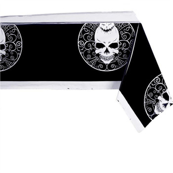 Premium Ghost Design Printed PE Table Cover Disposable Halloween Party Plastic Tablecloth