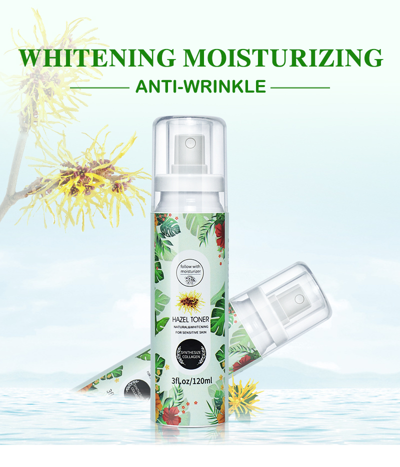 OEM Brand factory Soft Skin Whitening Face Toner Witch hazel Toner