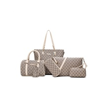 Famous brands 2019 tote designer <strong>handbags</strong> sets 6pcs ladies <strong>handbags</strong> women bags pu leather Shoulder <strong>handbag</strong> for women custom