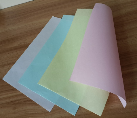 coloured pre-printed carbonless ncr autocopier paper
